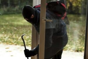 A man has broken and entered into a house. Do you need to make a theft or burglary claim?